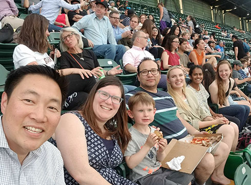 photo of Memory and Aging Center outing at Oracle Park