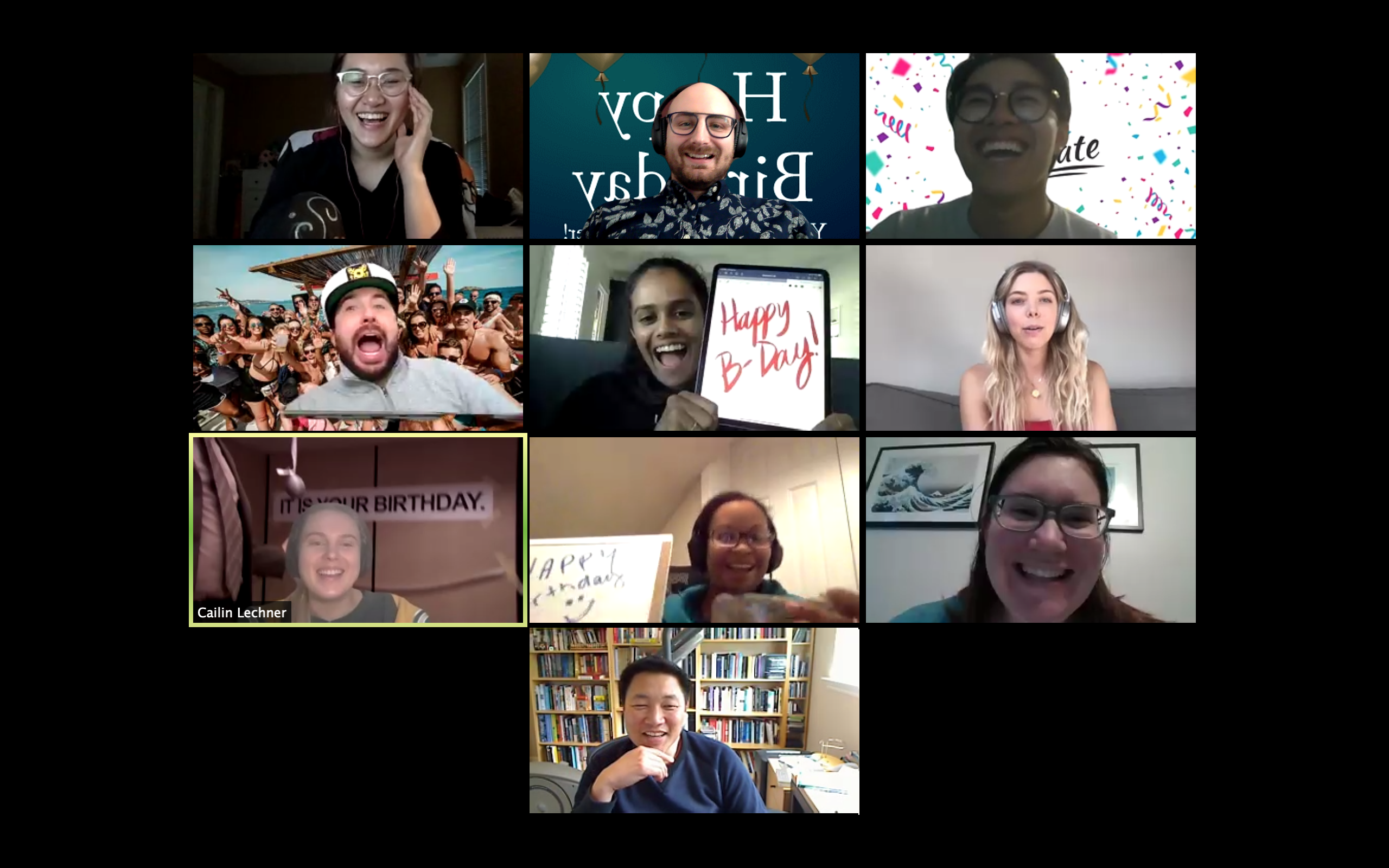 photo of Virtual bday party for Winston!